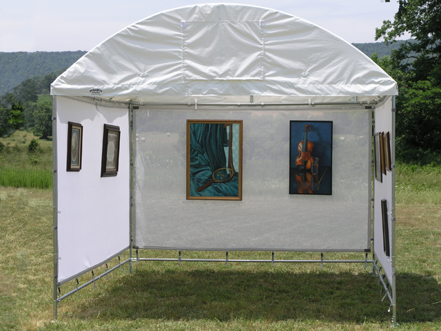 Art festivals on a dime the frugal way to start showing for Display tents for craft fairs