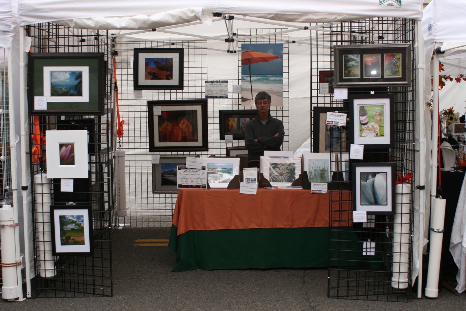 The frugal way to start showing at art festivals the for Used craft fair tents
